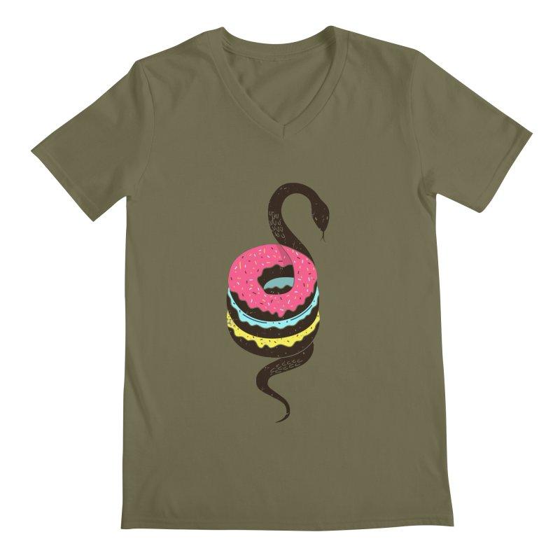 Snake Donuts Men's V-Neck by Diardo's Design Shop