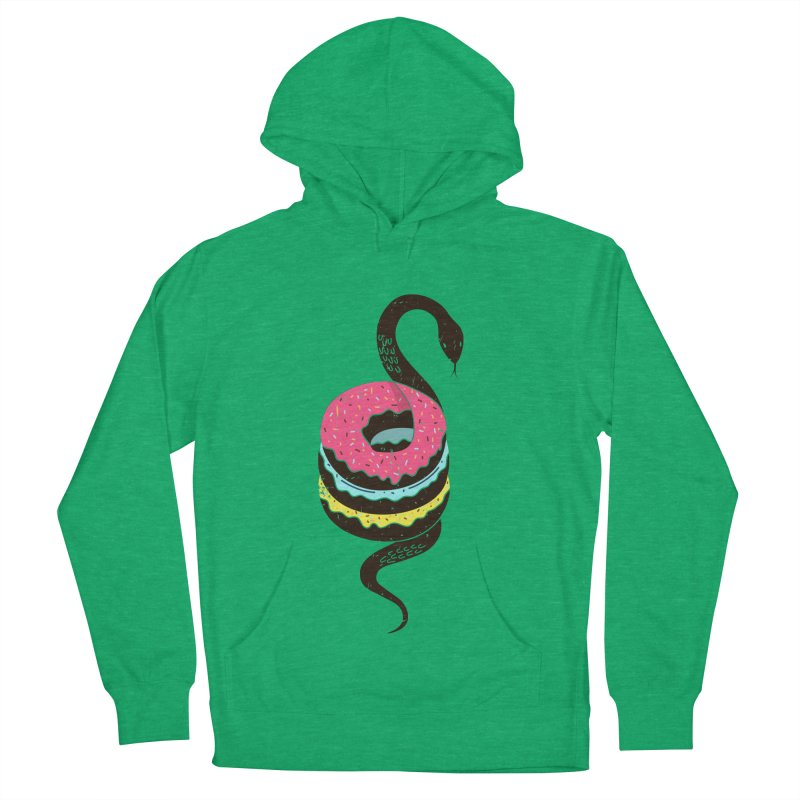 Snake Donuts Women's French Terry Pullover Hoody by Diardo's Design Shop