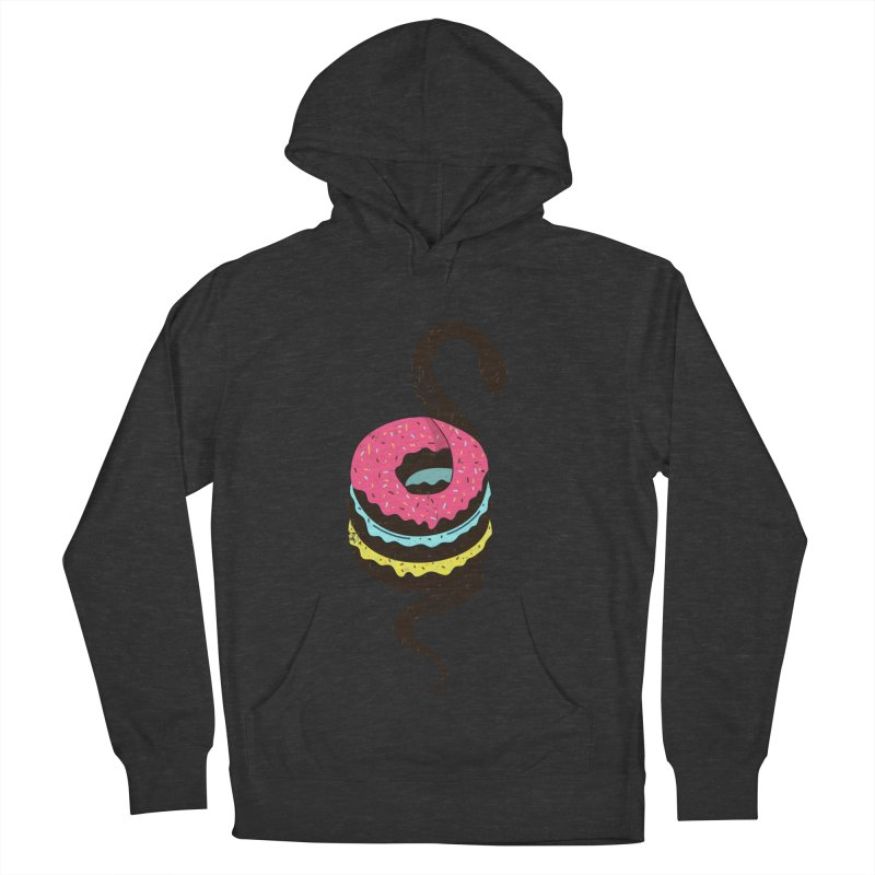 Snake Donuts Men's French Terry Pullover Hoody by Diardo's Design Shop