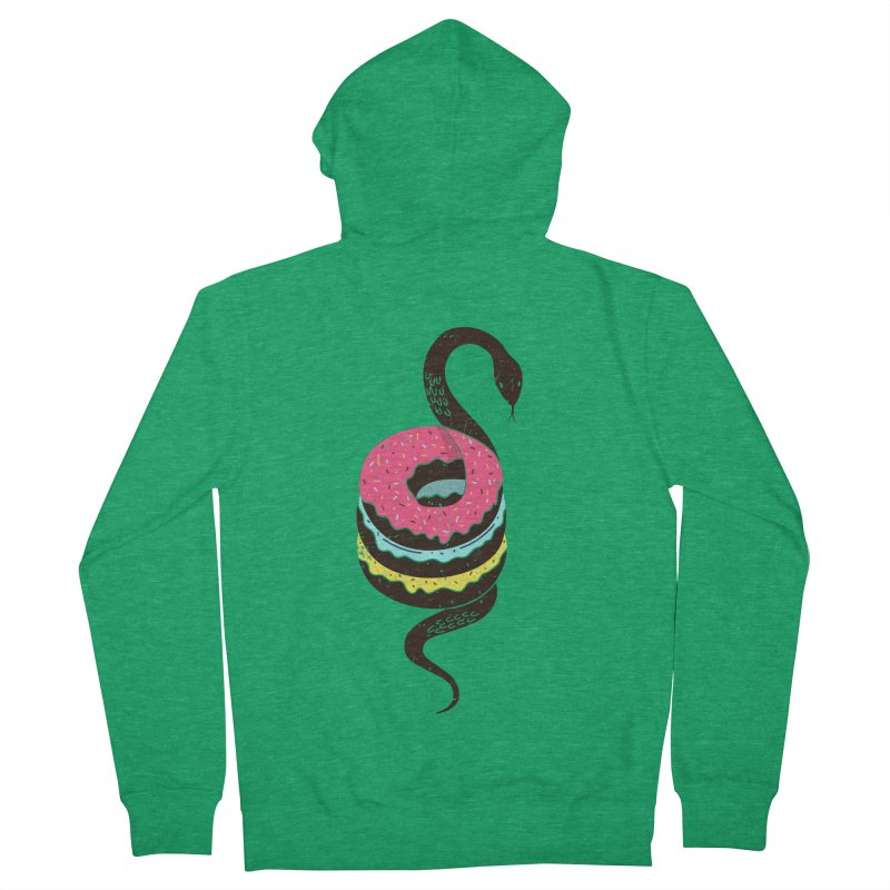 Snake Donuts Men's French Terry Zip-Up Hoody by Diardo's Design Shop