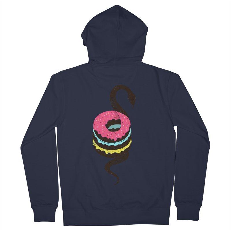 Snake Donuts Men's Zip-Up Hoody by Diardo's Design Shop