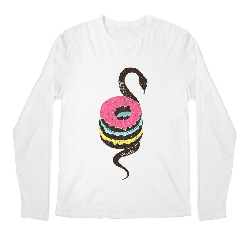 Snake Donuts Men's Longsleeve T-Shirt by Diardo's Design Shop