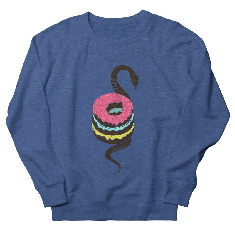 Snake Donuts Men's Sweatshirt by Diardo's Design Shop