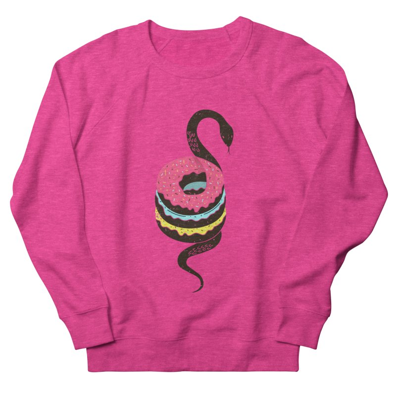 Snake Donuts Men's Sweatshirt by Diardo's Design Shop