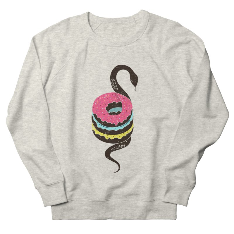 Snake Donuts Men's French Terry Sweatshirt by Diardo's Design Shop