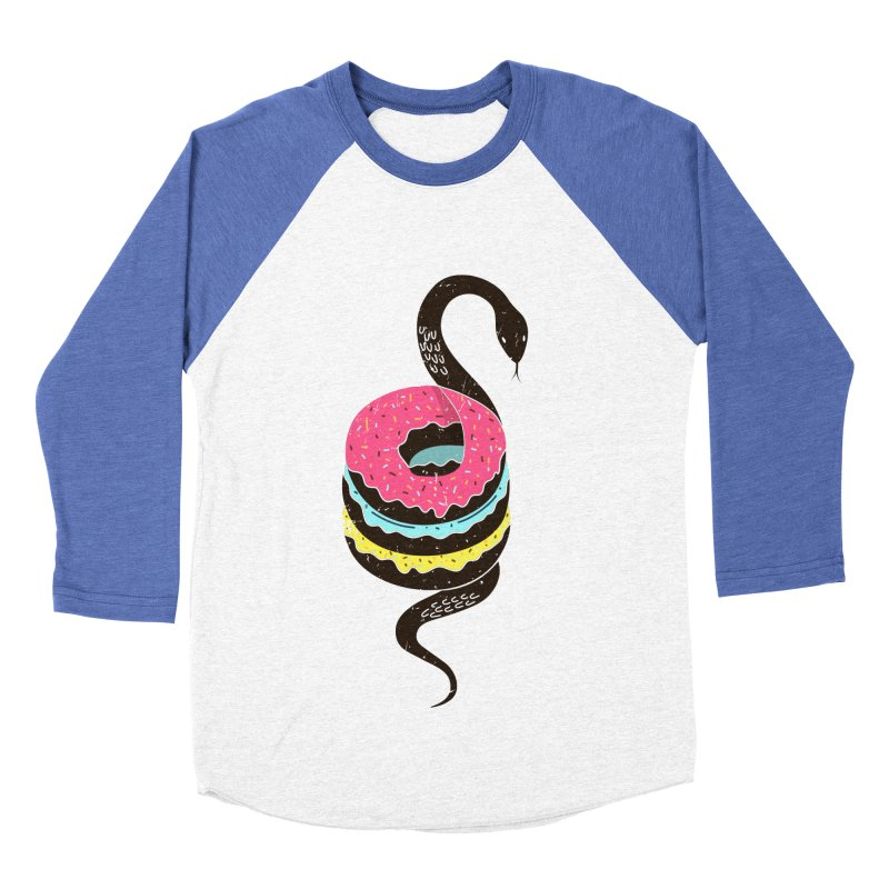 Snake Donuts Women's Baseball Triblend Longsleeve T-Shirt by Diardo's Design Shop