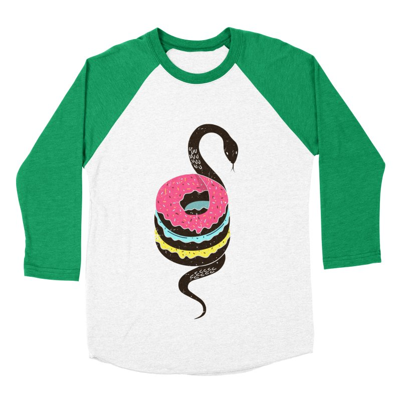Snake Donuts Men's Baseball Triblend T-Shirt by Diardo's Design Shop