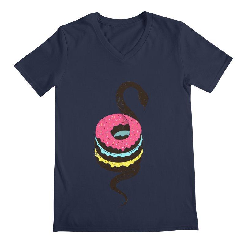 Snake Donuts Men's Regular V-Neck by Diardo's Design Shop