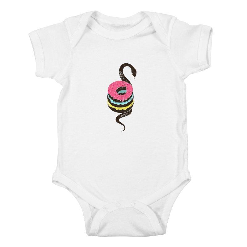 Snake Donuts Kids Baby Bodysuit by Diardo's Design Shop