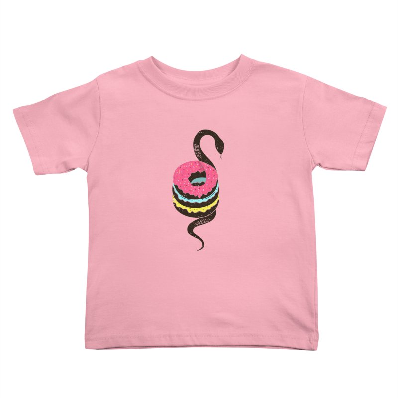 Snake Donuts Kids Toddler T-Shirt by Diardo's Design Shop