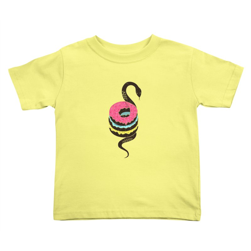 Snake Donuts Kids Toddler T-Shirt by Diardo's Design Shop