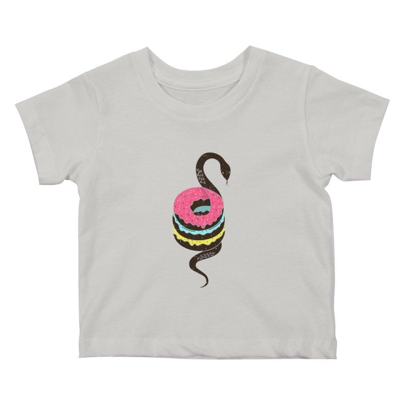 Snake Donuts Kids Baby T-Shirt by Diardo's Design Shop