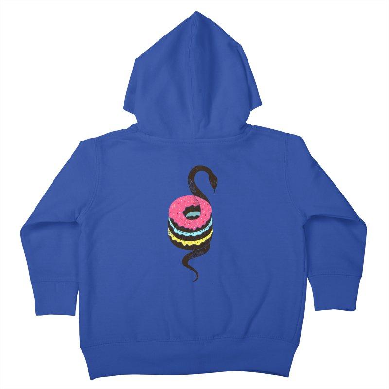 Snake Donuts Kids Toddler Zip-Up Hoody by Diardo's Design Shop