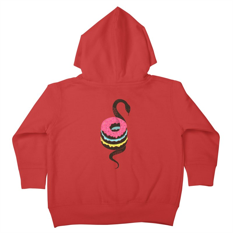Snake Donuts Kids Toddler Zip-Up Hoody by Diardo's Design Shop