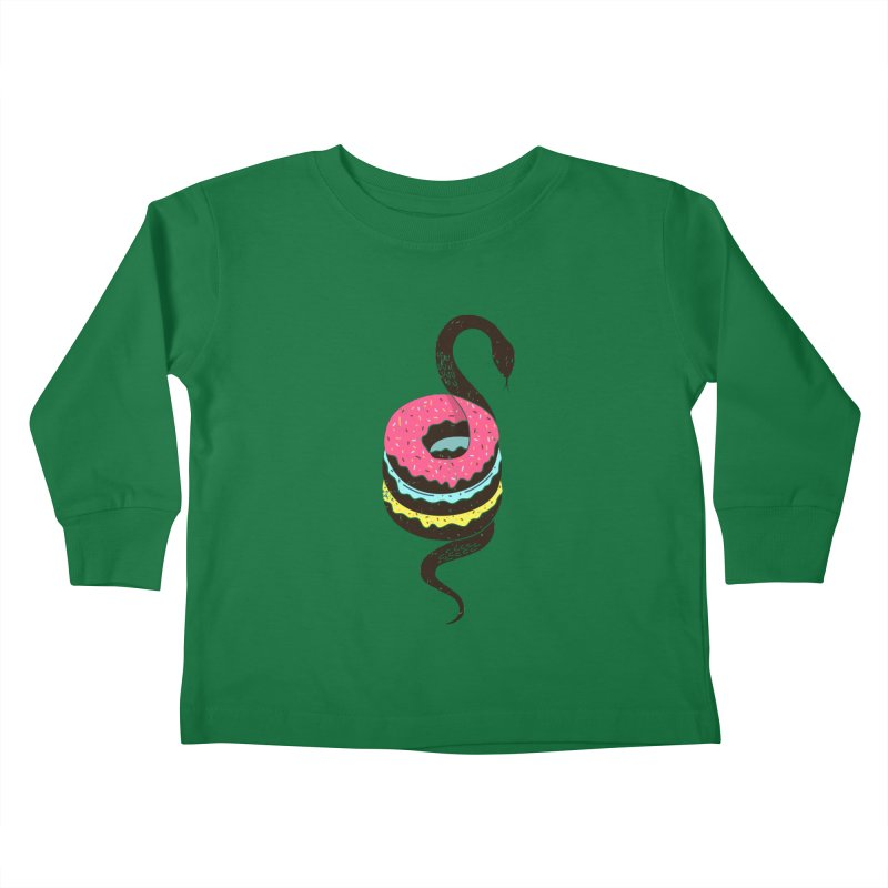 Snake Donuts Kids Toddler Longsleeve T-Shirt by Diardo's Design Shop