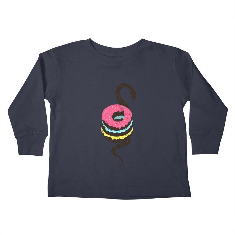 Snake Donuts Kids Toddler Longsleeve T-Shirt by Diardo's Design Shop
