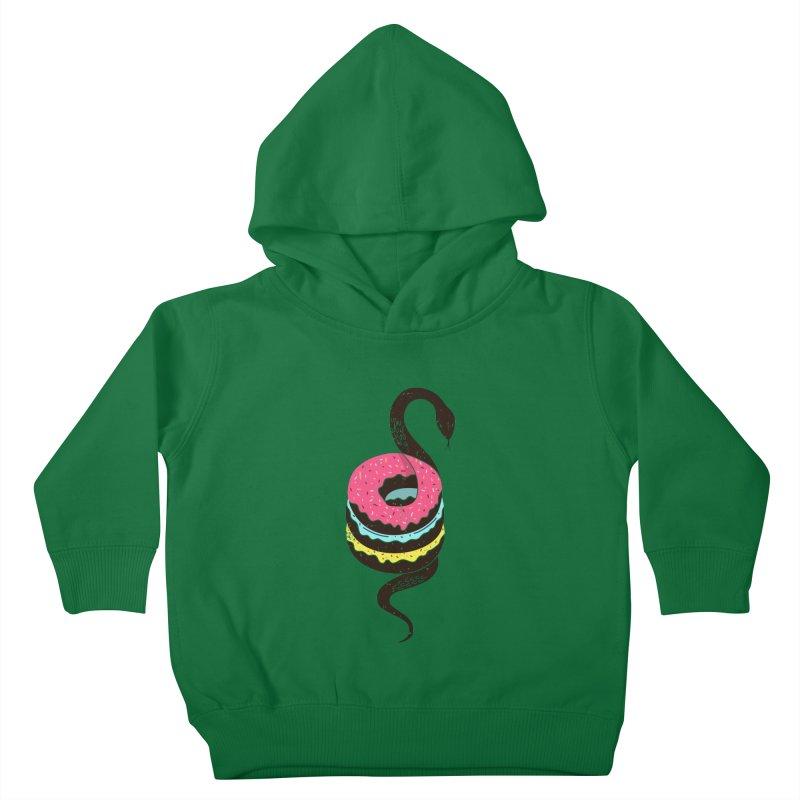 Snake Donuts Kids Toddler Pullover Hoody by Diardo's Design Shop