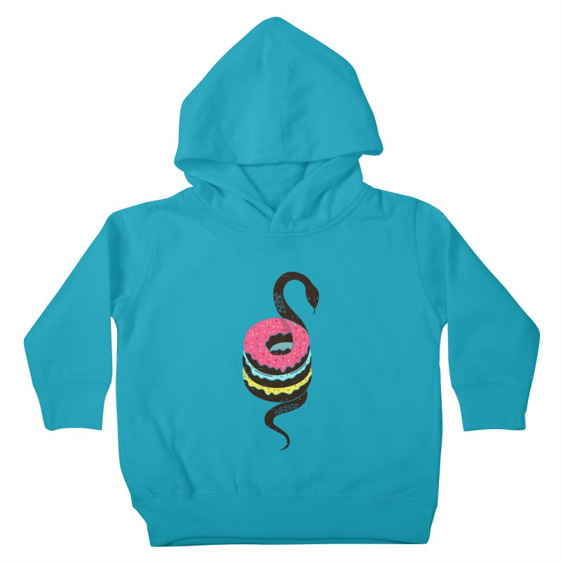 Snake Donuts Kids Toddler Pullover Hoody by Diardo's Design Shop