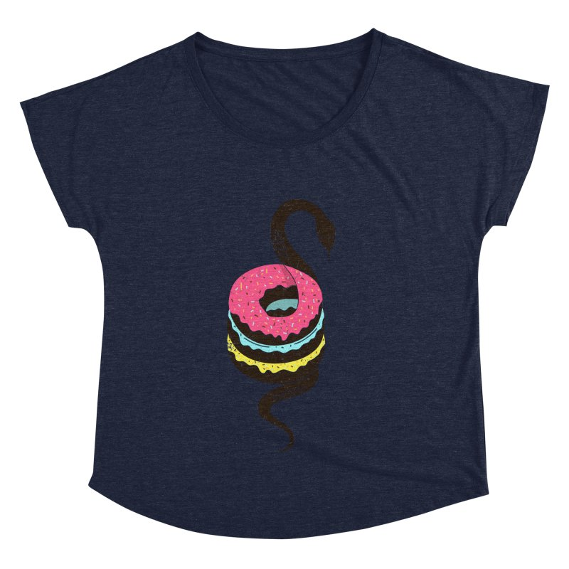 Snake Donuts Women's Dolman by Diardo's Design Shop