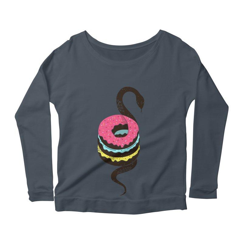 Snake Donuts Women's Longsleeve Scoopneck  by Diardo's Design Shop