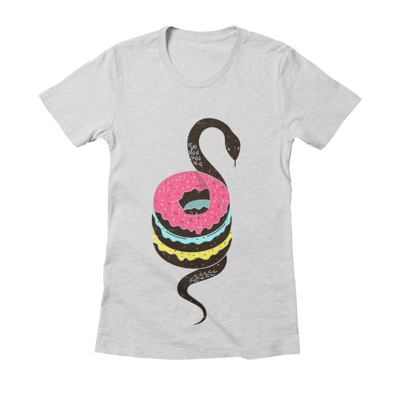 Snake Donuts Women's T-Shirt by Diardo's Design Shop
