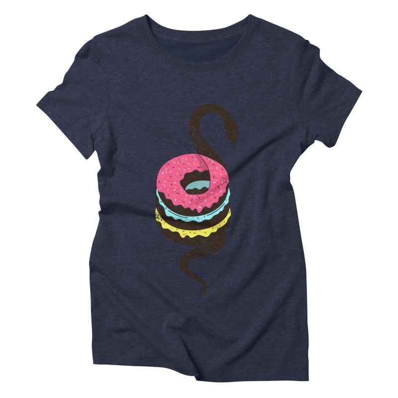 Snake Donuts Women's Triblend T-Shirt by Diardo's Design Shop