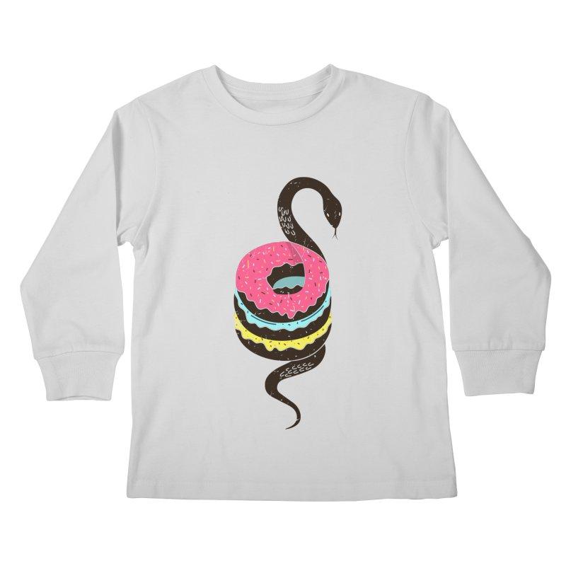 Snake Donuts Kids Longsleeve T-Shirt by Diardo's Design Shop