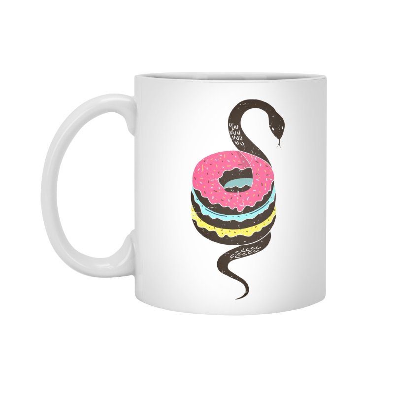 Snake Donuts Accessories Mug by Diardo's Design Shop