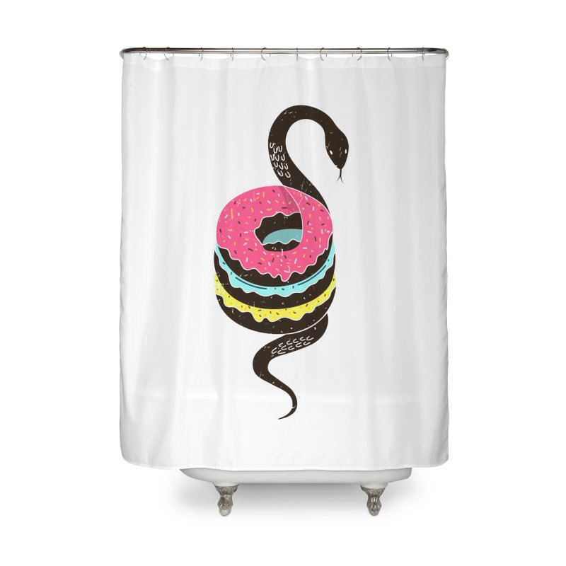Snake Donuts Home Shower Curtain by Diardo's Design Shop
