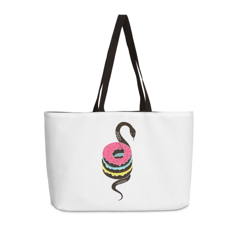 Snake Donuts Accessories Bag by Diardo's Design Shop