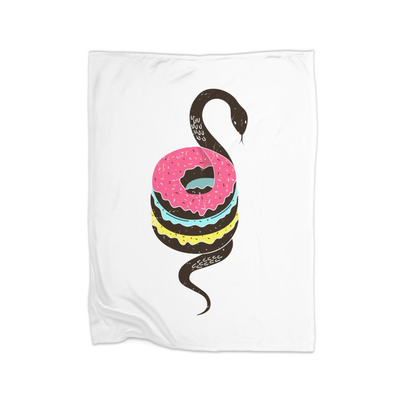Snake Donuts Home Fleece Blanket Blanket by Diardo's Design Shop