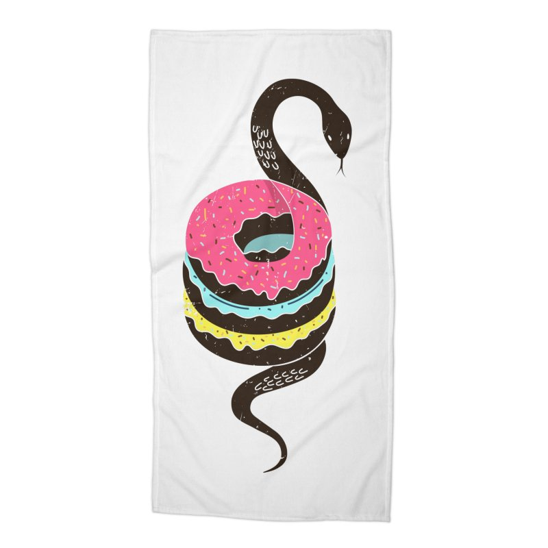 Snake Donuts Accessories Beach Towel by Diardo's Design Shop
