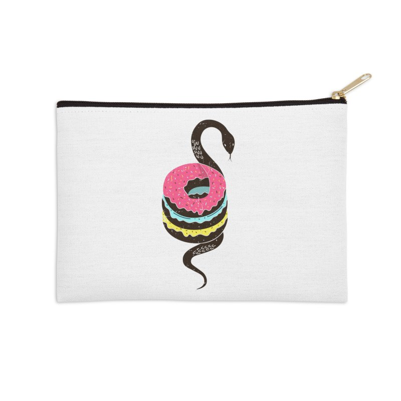 Snake Donuts Accessories Zip Pouch by Diardo's Design Shop
