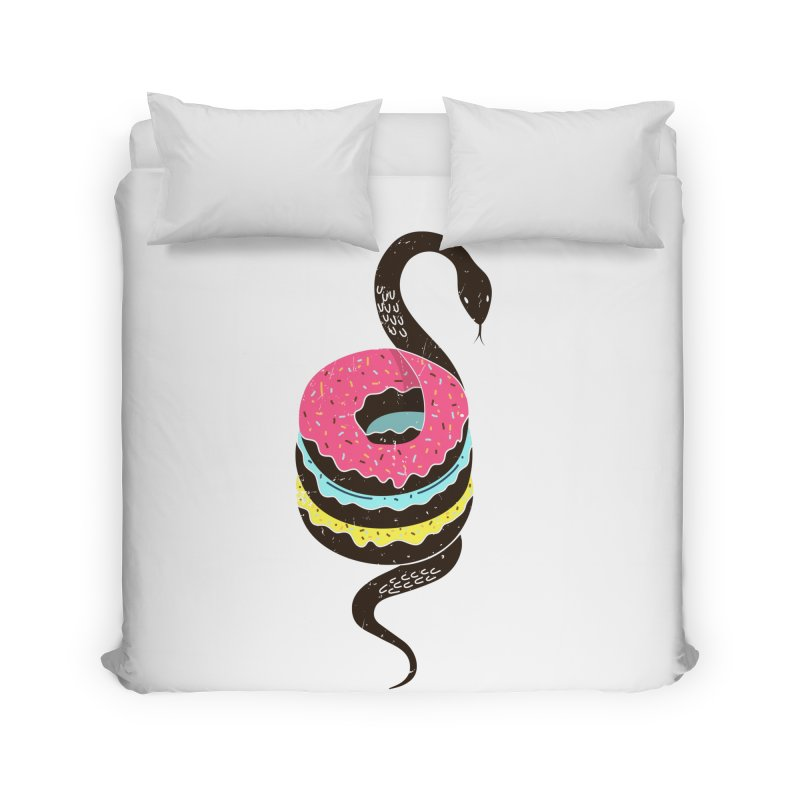 Snake Donuts Home Duvet by Diardo's Design Shop