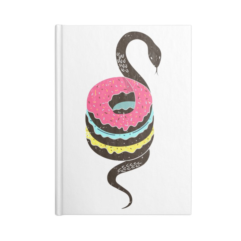 Snake Donuts Accessories Lined Journal Notebook by Diardo's Design Shop