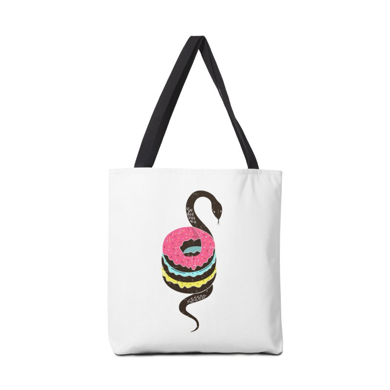 Snake Donuts Accessories Tote Bag Bag by Diardo's Design Shop