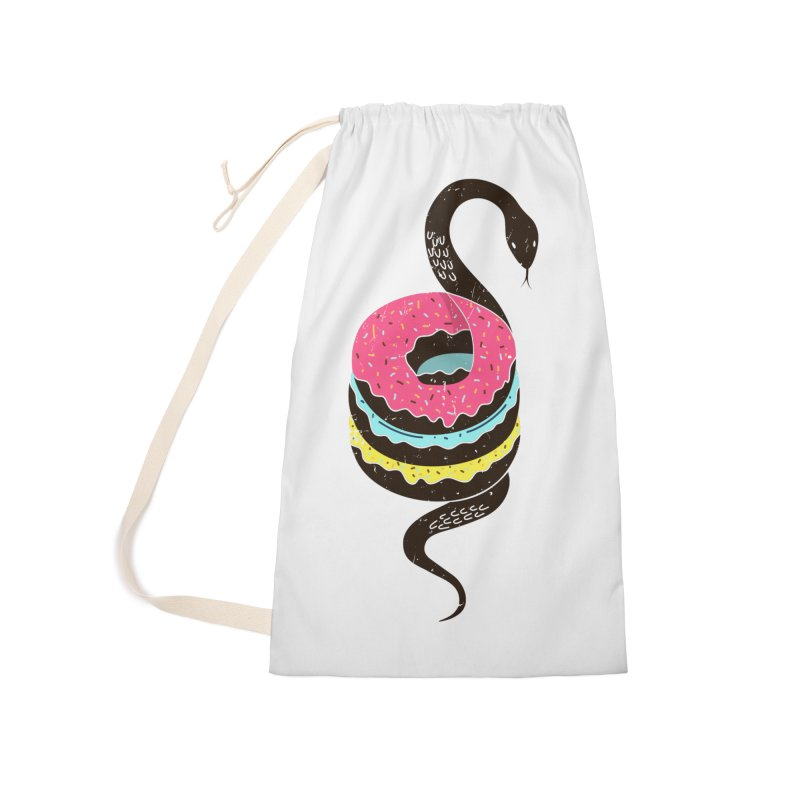 Snake Donuts Accessories Laundry Bag Bag by Diardo's Design Shop