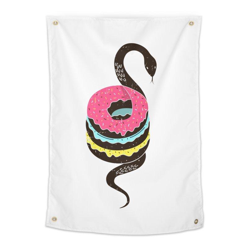 Snake Donuts Home Tapestry by Diardo's Design Shop