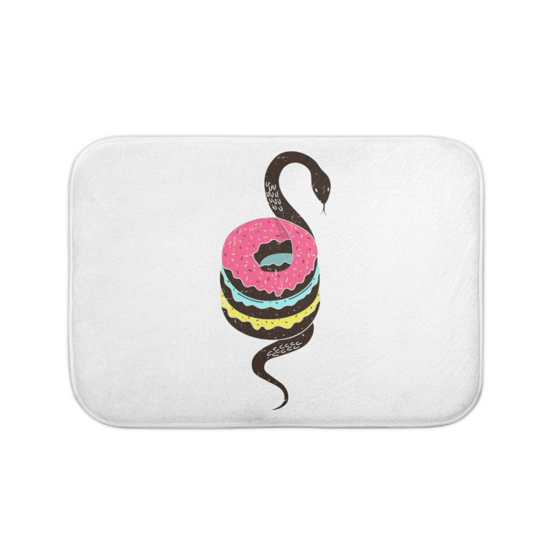 Snake Donuts Home Bath Mat by Diardo's Design Shop