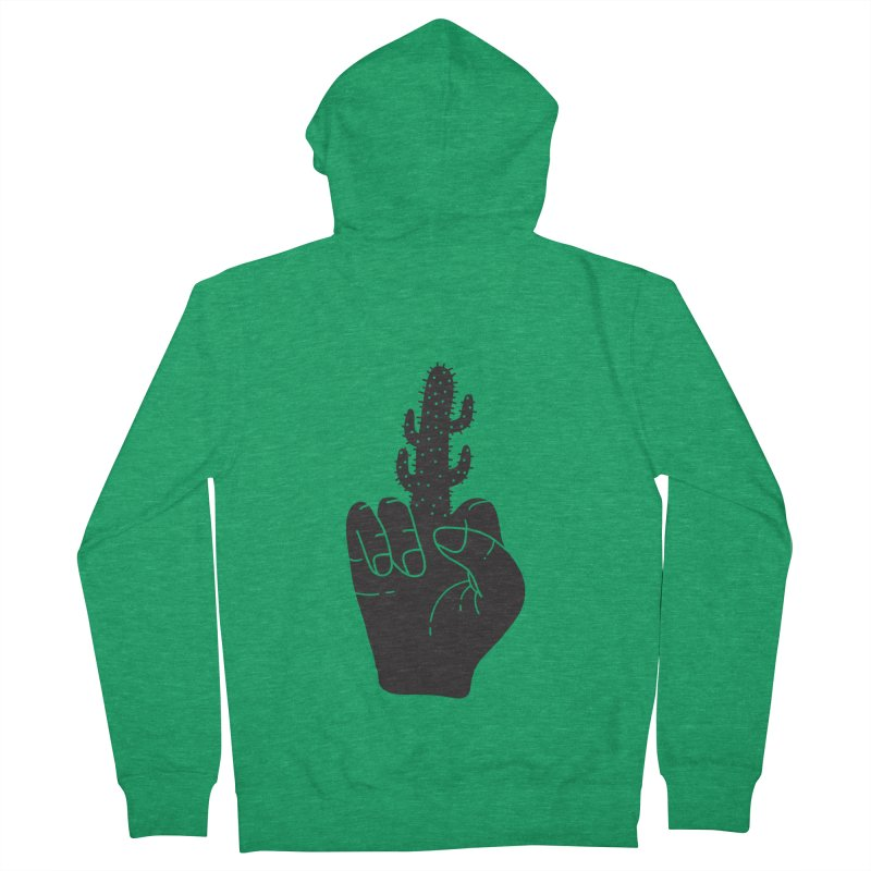 Look, a cactus Men's French Terry Zip-Up Hoody by Diardo's Design Shop