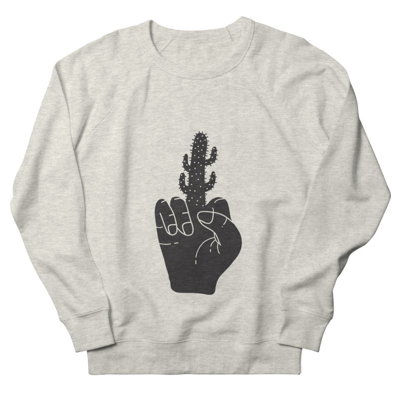 Look, a cactus Men's French Terry Sweatshirt by Diardo's Design Shop