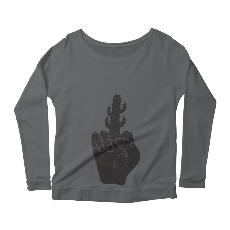 Look, a cactus Women's Scoop Neck Longsleeve T-Shirt by Diardo's Design Shop