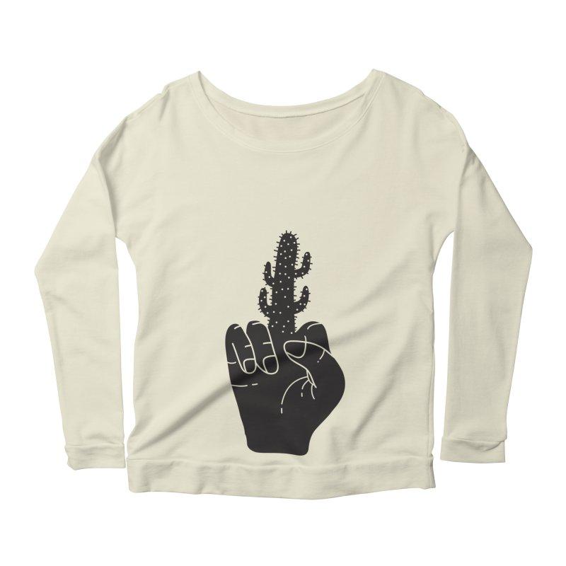 Look, a cactus Women's Scoop Neck Longsleeve T-Shirt by Diardo's Design Shop