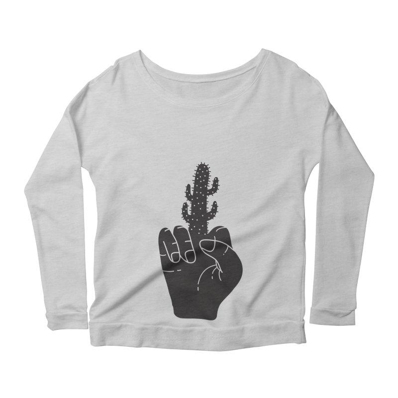 Look, a cactus Women's Longsleeve Scoopneck  by Diardo's Design Shop