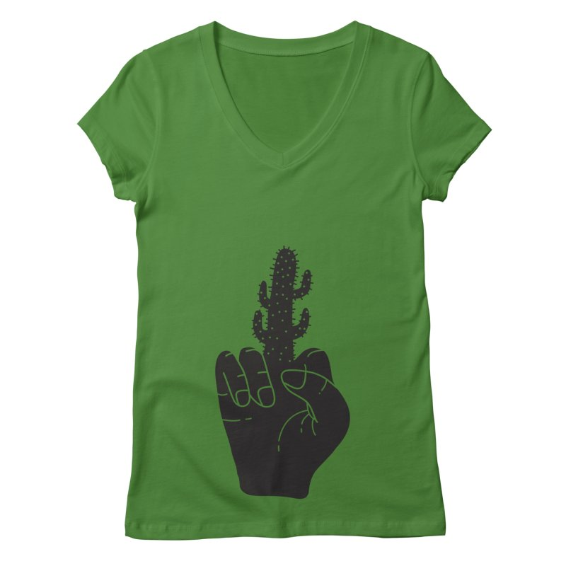 Look, a cactus Women's V-Neck by Diardo's Design Shop