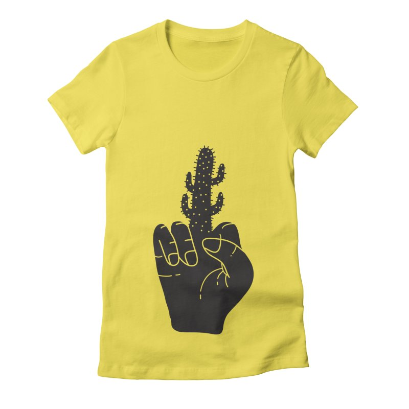 Look, a cactus Women's Fitted T-Shirt by Diardo's Design Shop
