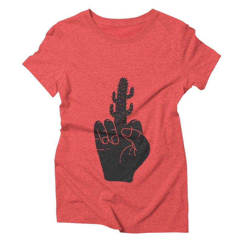 Look, a cactus Women's Triblend T-Shirt by Diardo's Design Shop