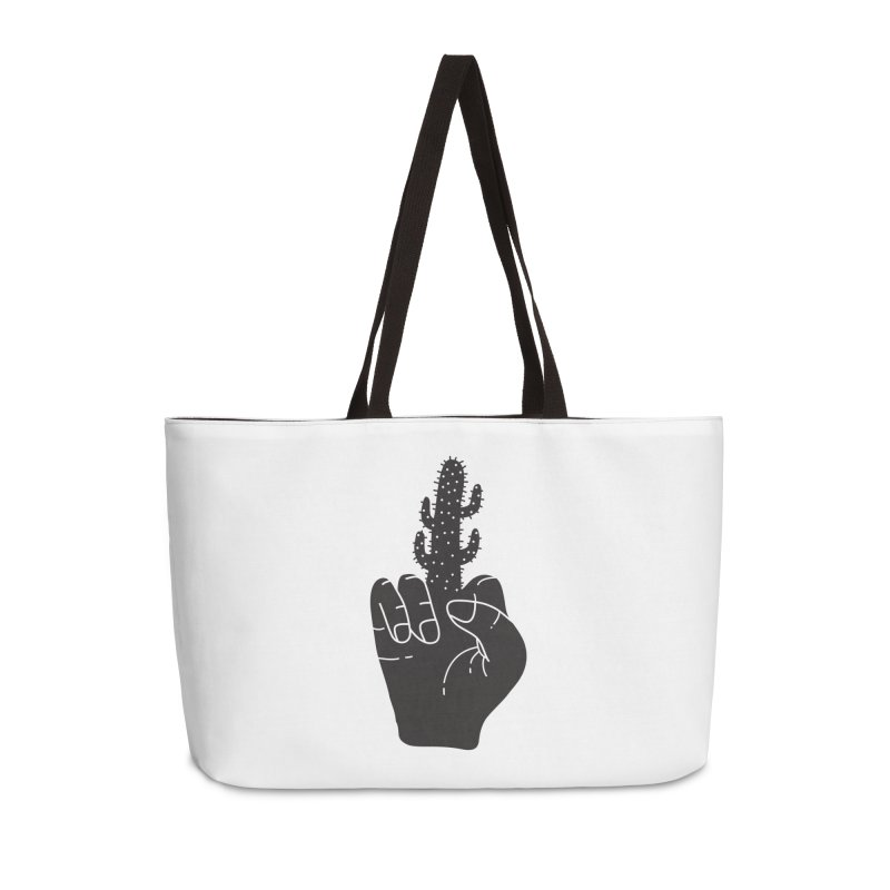 Look, a cactus Accessories Weekender Bag Bag by Diardo's Design Shop