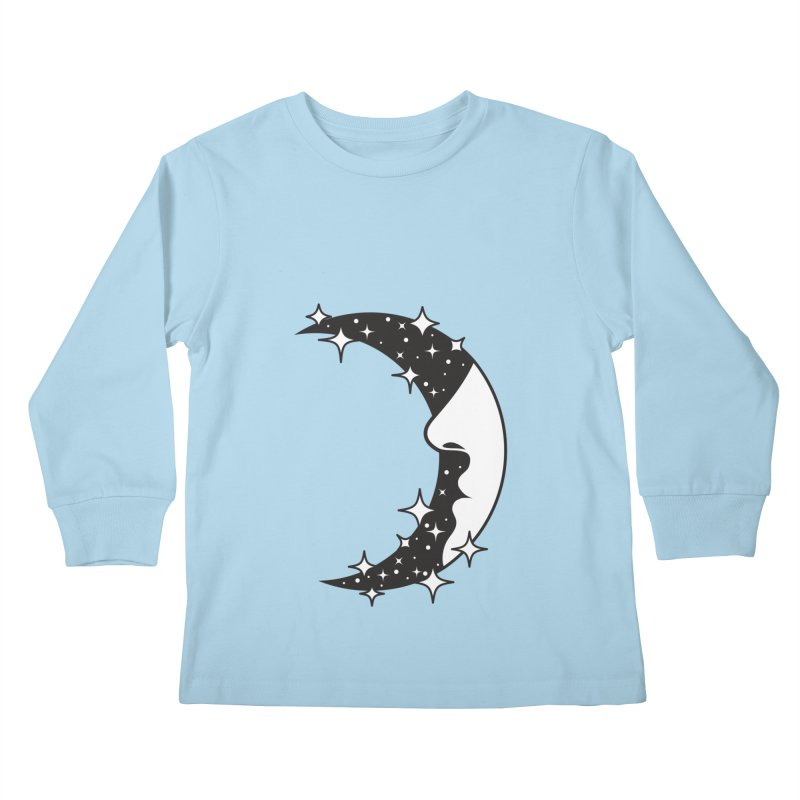 Crescent Desire Kids Longsleeve T-Shirt by Diardo's Design Shop