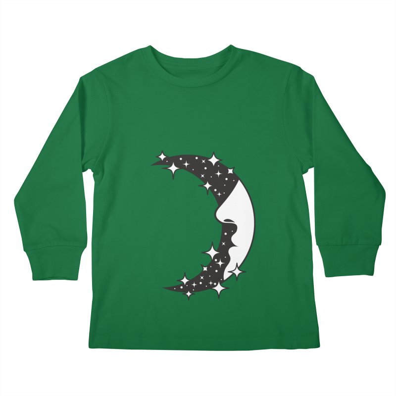 Crescent Desire Kids Longsleeve T-Shirt by Diardo's Design Shop